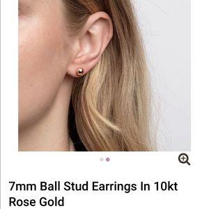 Michael Hill rose gold ball stud earrings